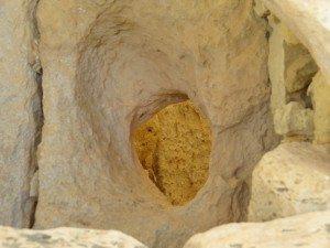 A rock opening outside on Malta