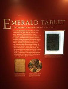 EMERALD TABLET ROSICRUCIAN