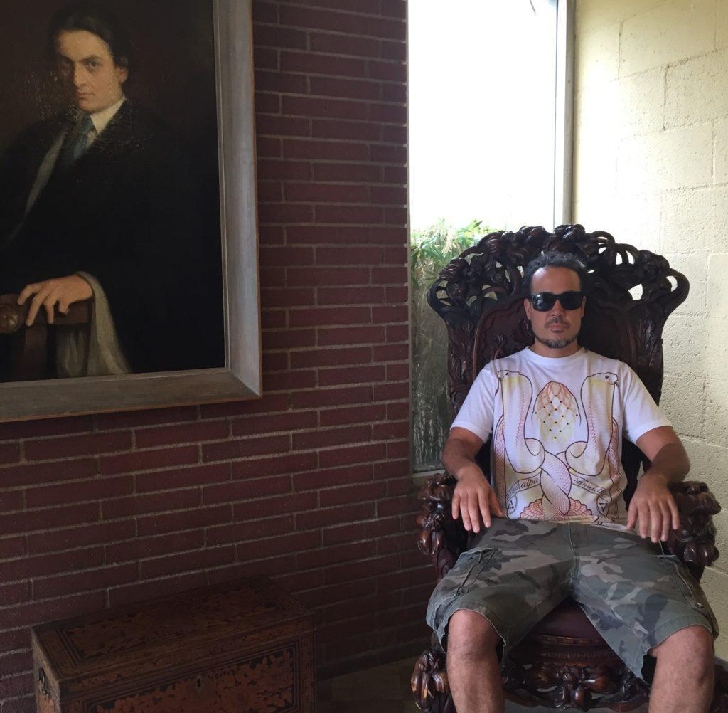 ANYEXTEE IN MANLY P HALL CHAIR