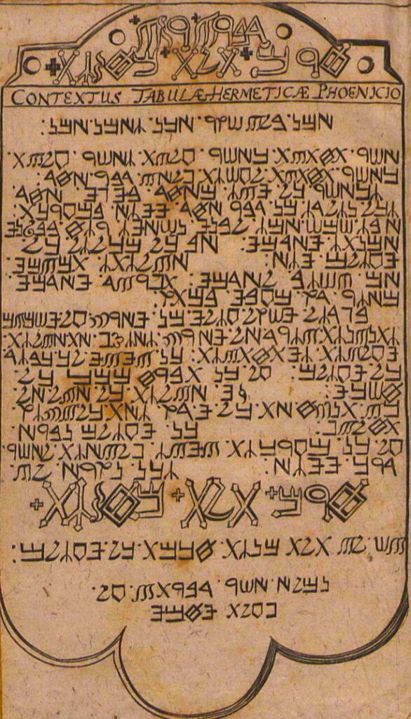Christoph-Kriegsmann-tabula-smaragdina-phoenician